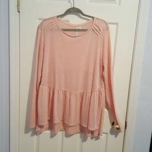 XL Peach, Lauren Conrad top